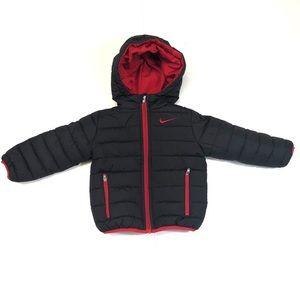 Nike Toddler Black & Red Puffer Jacket 2T